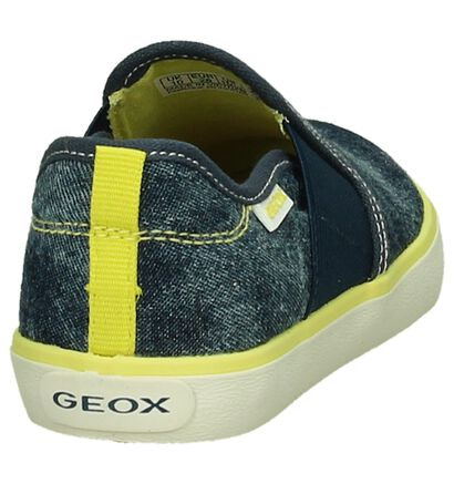 Instappers Geox Blauw Jeans, Blauw, pdp
