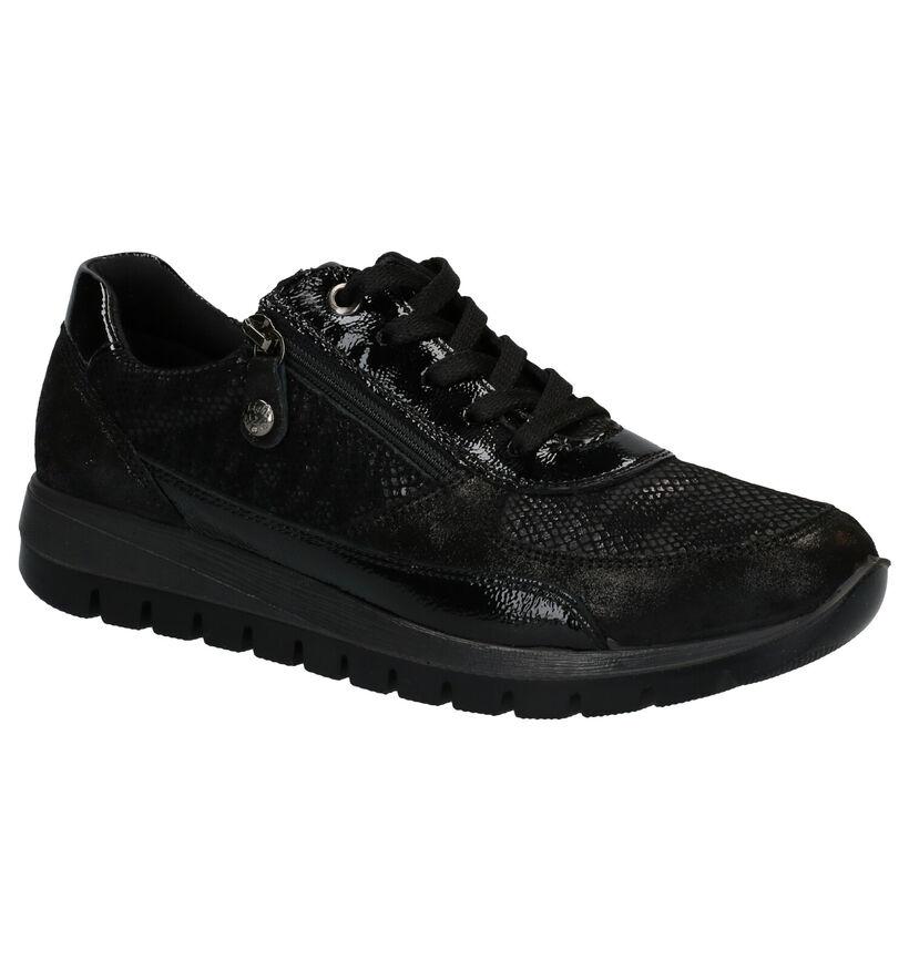 Hush Puppies Itou Chaussures à lacets en Noir en cuir verni (292697)