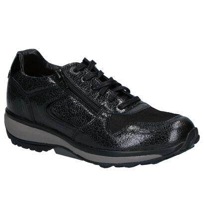 Xsensible Jersey Chaussures à Lacets en Noir en cuir verni (259685)