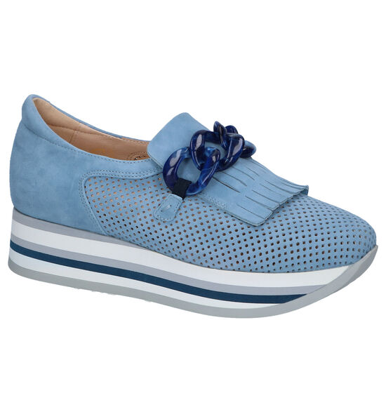Softwaves Blauwe Loafers
