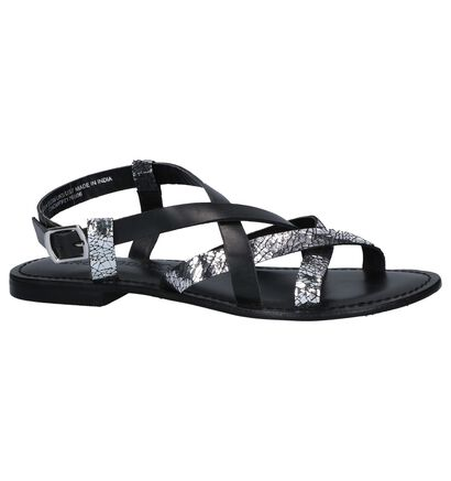 Zwarte/Zilveren Sandalen Vero Moda Mary, Zwart, pdp