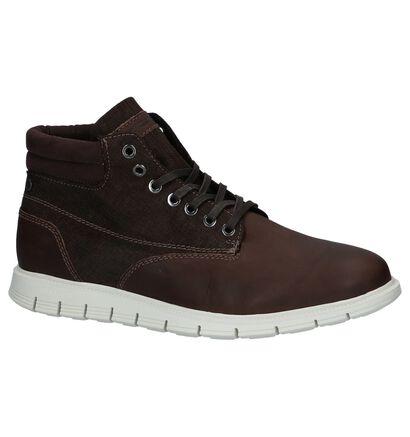 Bruine Boots Jack & Jones Pedro in leer (227602)