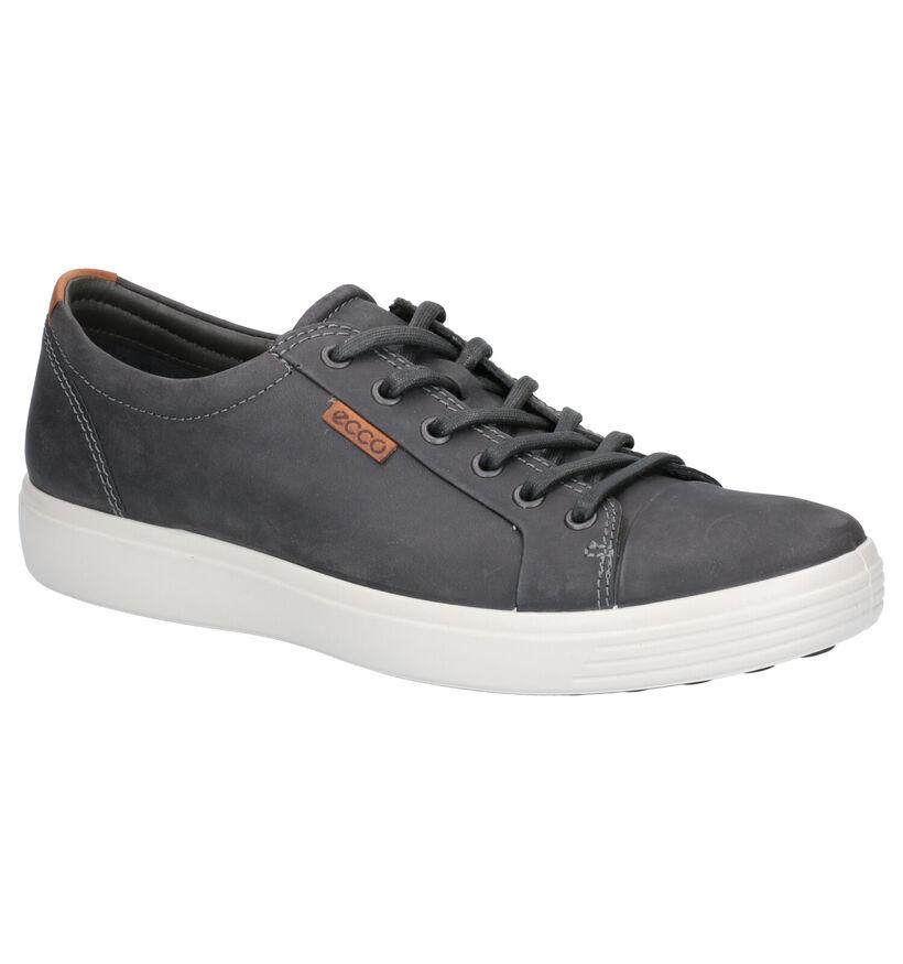 Ecco Soft 7 Chaussures à lacets en Gris en cuir (270098)