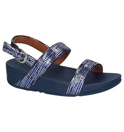 FitFlop Sandales à talons en Bleu foncé en daim (240994)