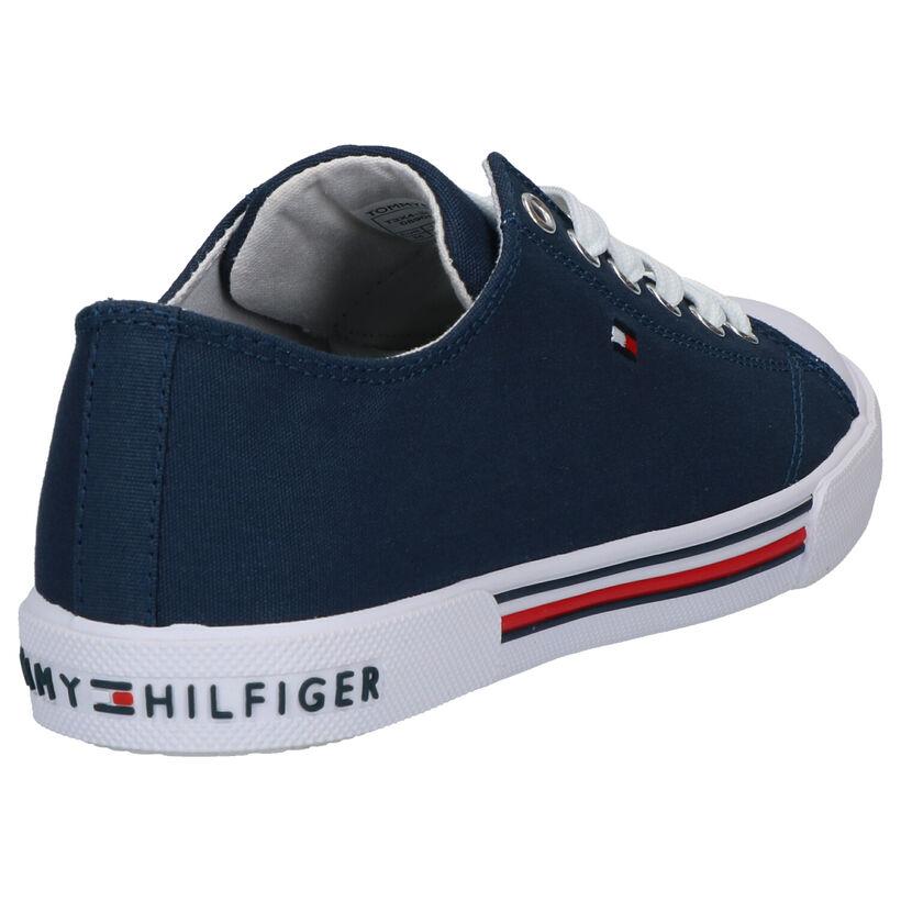 Tommy Hilfiger Blauwe Sneakers in stof (266555)