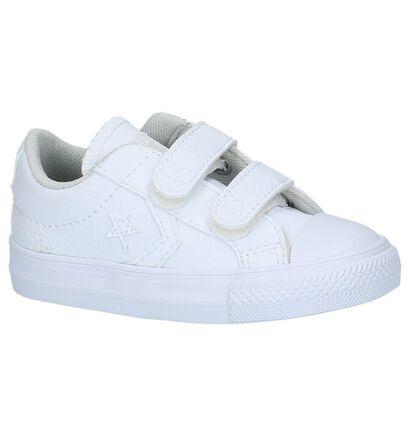 Witte Converse Velcroschoenen, Wit, pdp