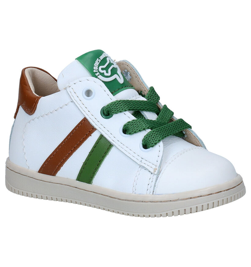 STONES and BONES Ber Chaussures en Blanc en cuir (287839)