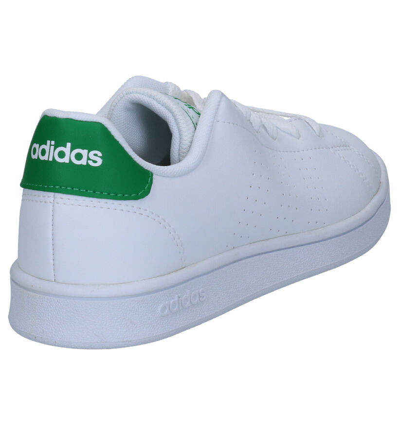 adidas Advantage K Witte Sneakers in kunstleer (262045)