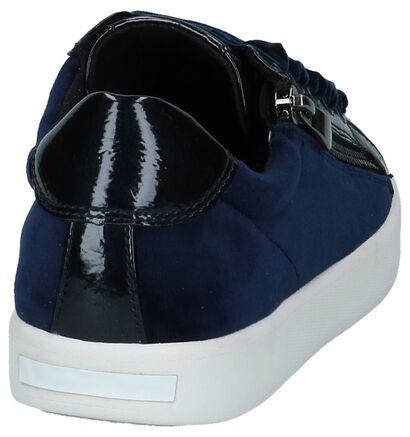 Lage Geklede Sneakers Donkerblauw Youh! in velours (222089)