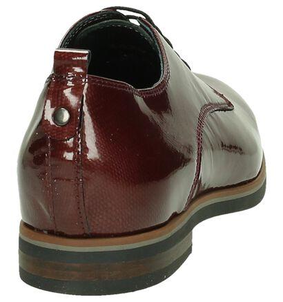 Via Roma Chaussures à lacets en Bordeaux en simili cuir (182922)