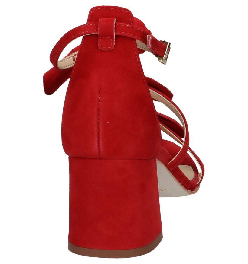 Miss Unique Sandales à talons en Rouge en nubuck (221078)