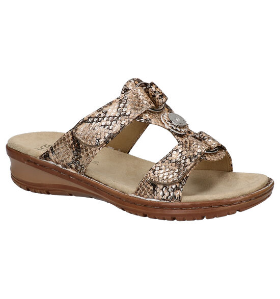 Ara Taupe Slippers