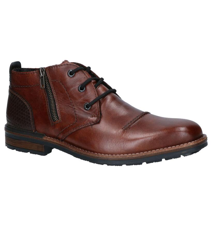 Rieker Chaussures hautes en Brun foncé en cuir (277693)
