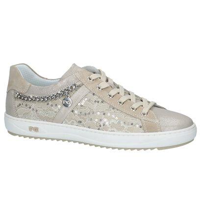 NeroGiardini Chaussures à lacets en Beige foncé en textile (211686)