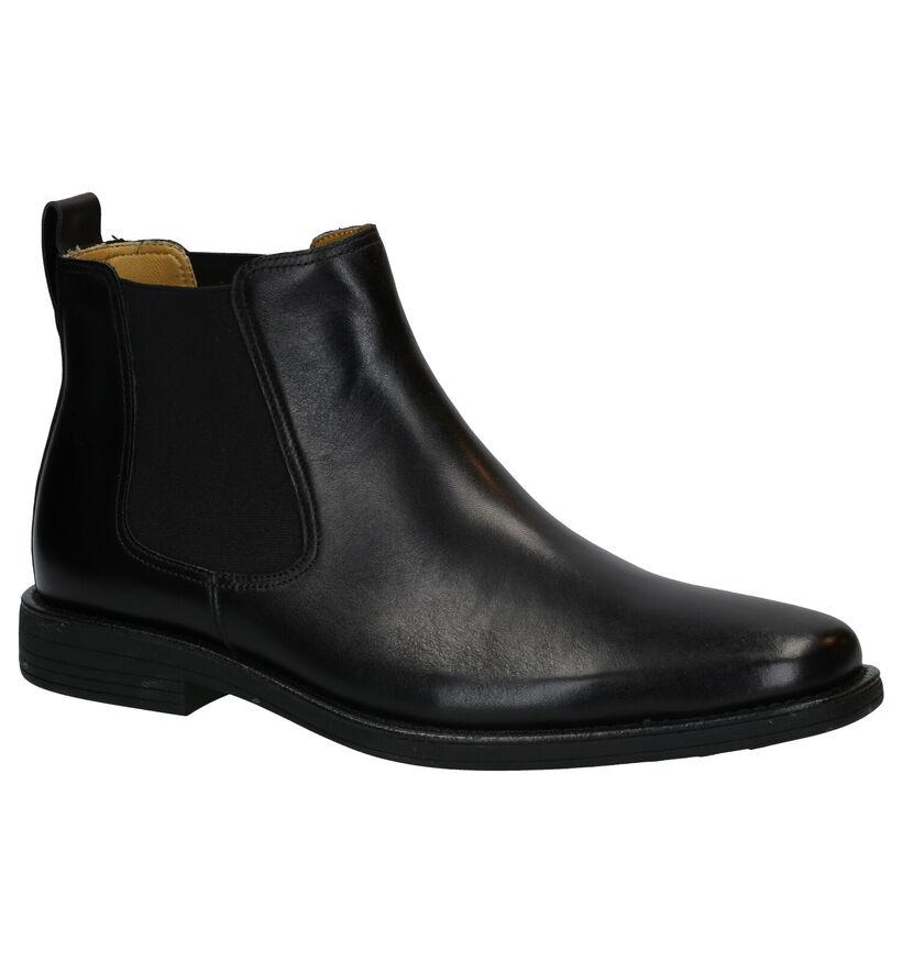 Steptronic Austin Zwarte Chelsea Boots in leer (292713)