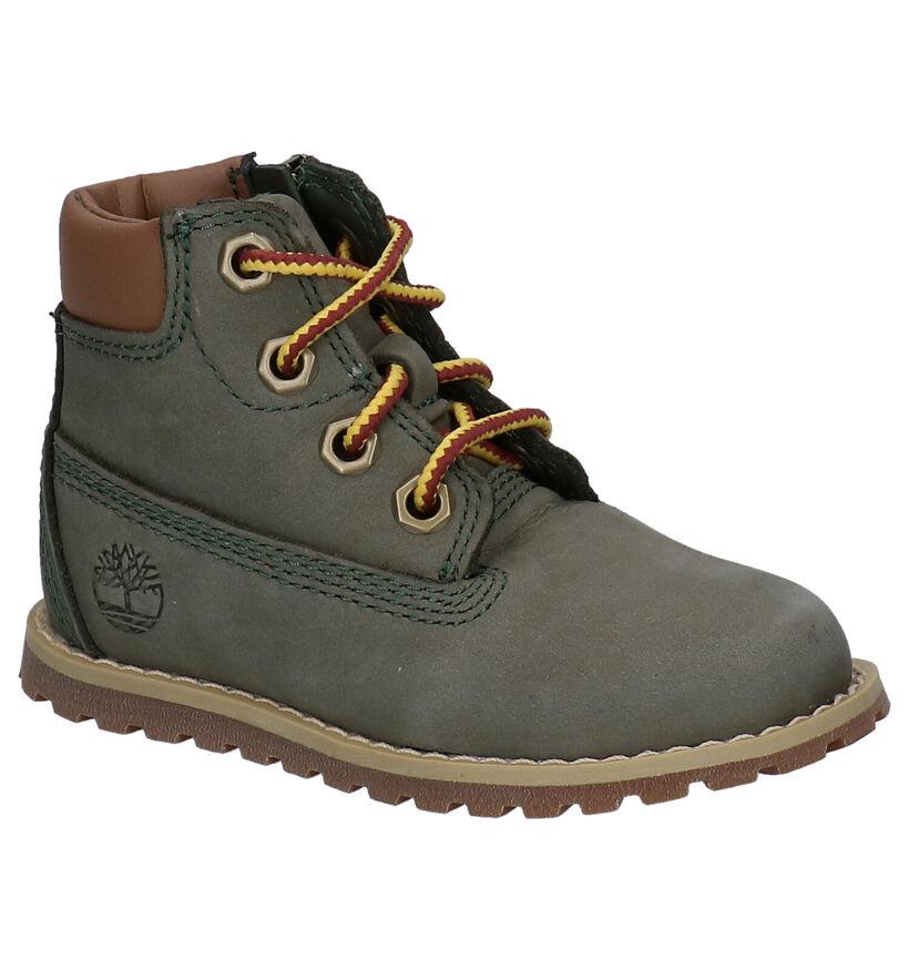 Timberland Pokey Pine Kaki Boots in nubuck (277726)
