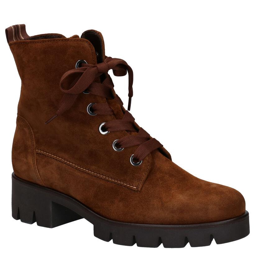 Gabor Best Fitting Cognac Boots in kurk (282296)