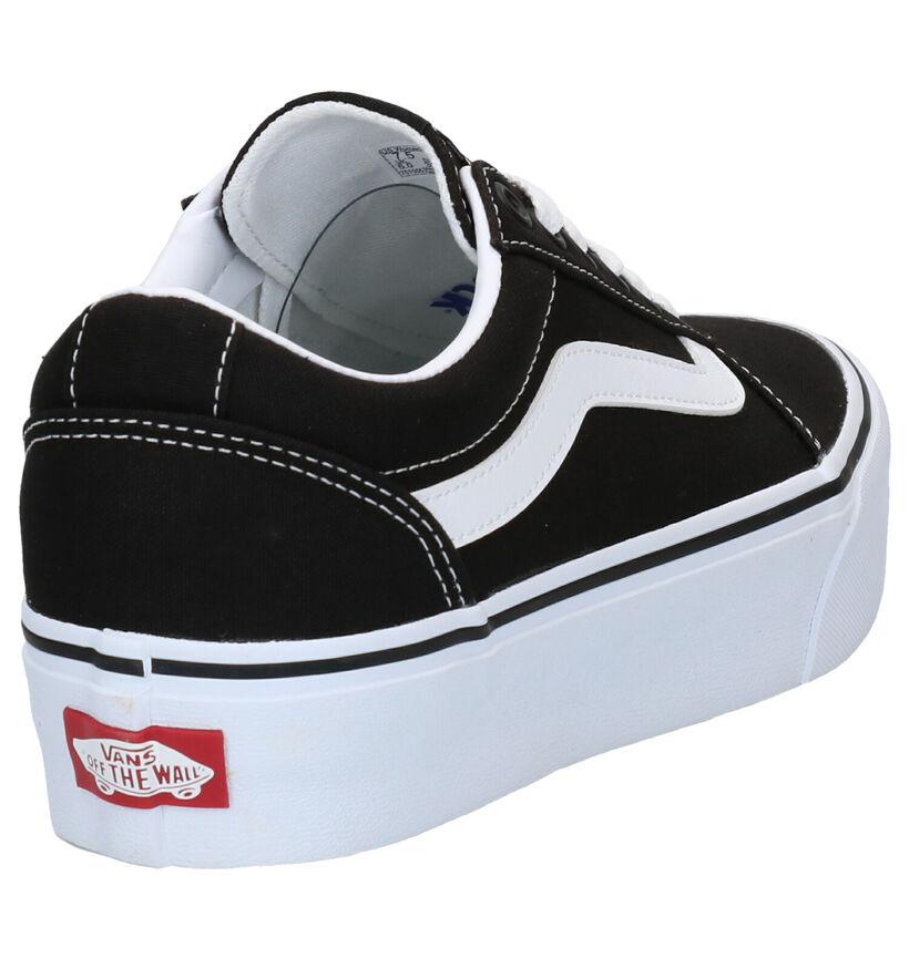 Vans Ward Platform Blauwe Sneakers in kunstleer (288397)