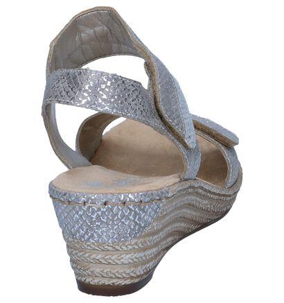 Beige Sandalen met Sleehak Rieker in kunstleer (246254)