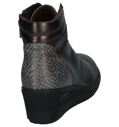 Gabor Comfort Bronzen Sneakers met Sleehak in leer (231176)