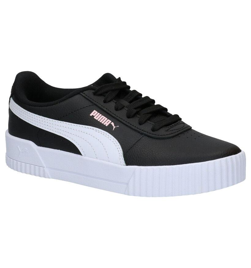 Puma Carina Zwarte Sneakers in kunstleer (276748)