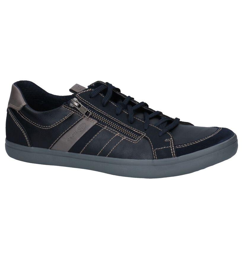 Geox Halver Chaussures Basses en Bleu en simili cuir (251605)