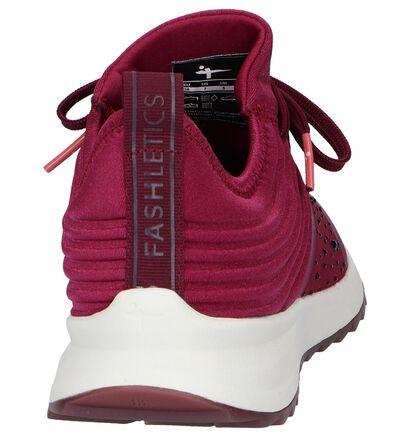 Bordeaux Slip-on Sneakers Tamaris Fashletics in stof (257098)