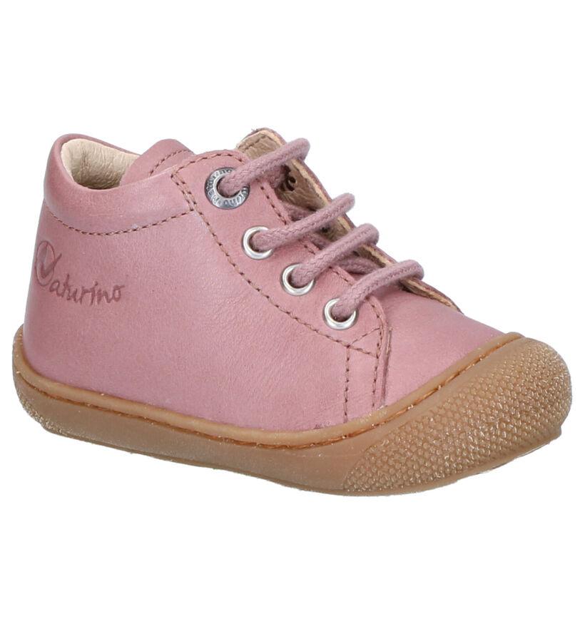Naturino Cocoon Chaussures Hautes en Roze en cuir (275686)