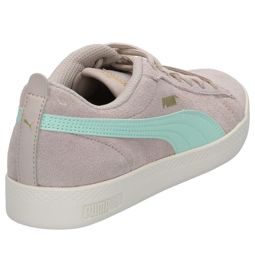 Puma Smash Sneakers en Rose en daim (265568)