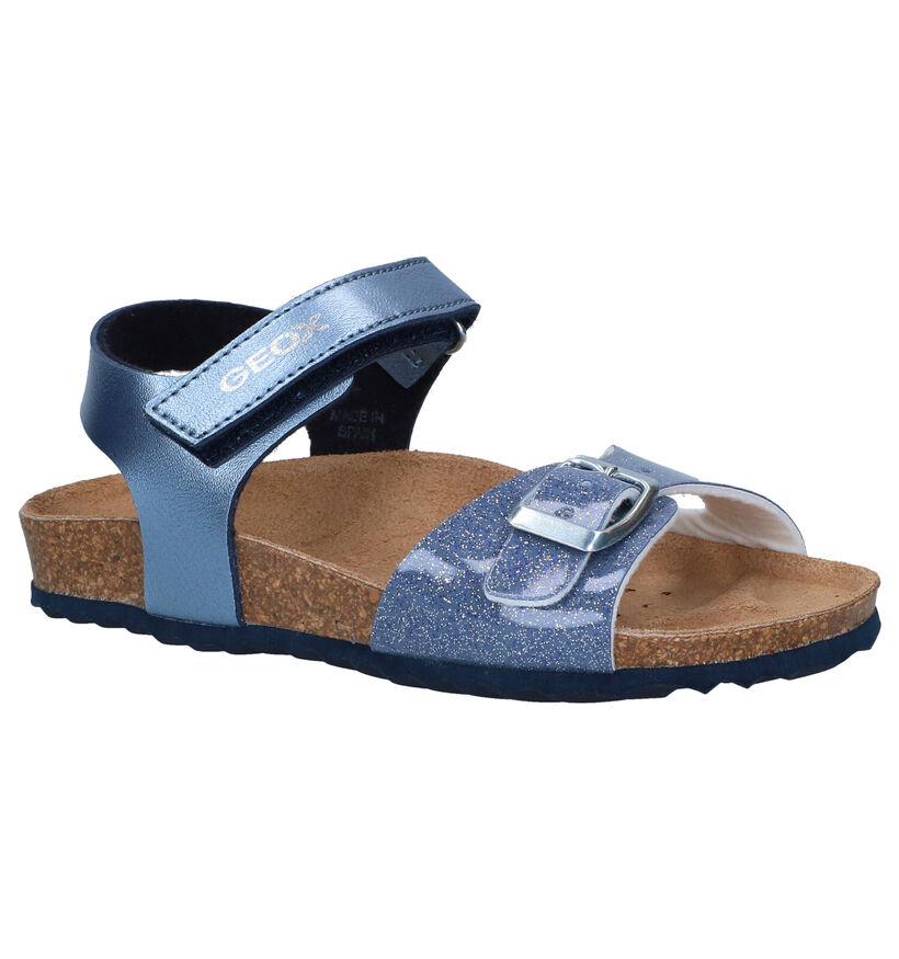 Geox Adriel Sandales en Bleu en simili cuir (286954)