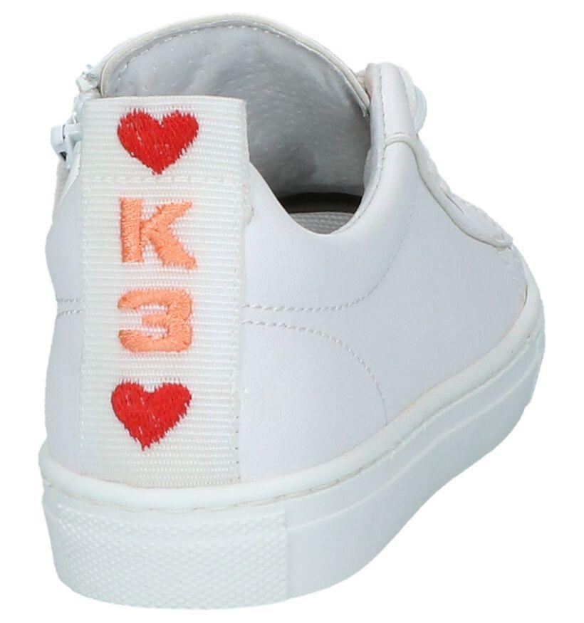 K3 Baskets basses en Blanc en cuir (213084)