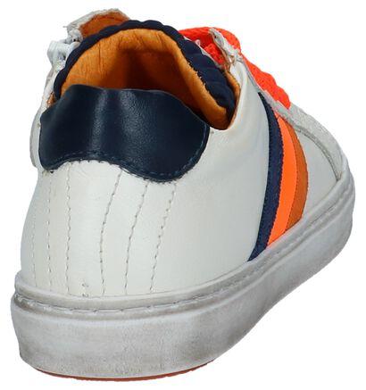 Witte Schoenen STONES and BONES Indigo in leer (240709)