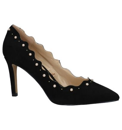 Lotus Popple Zwarte High Heels Pumps in stof (226594)