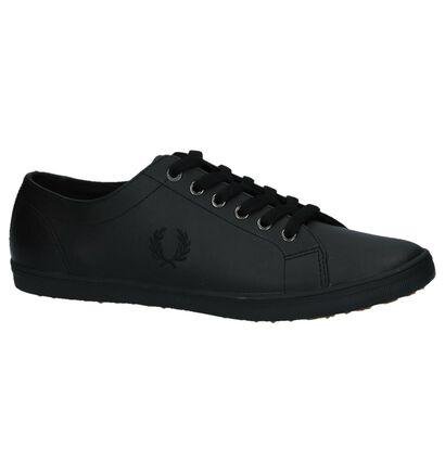 Fred Perry Chaussures basses en Noir en cuir (221453)