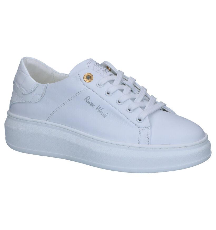 River Woods Anker Witte Sneakers in leer (271171)