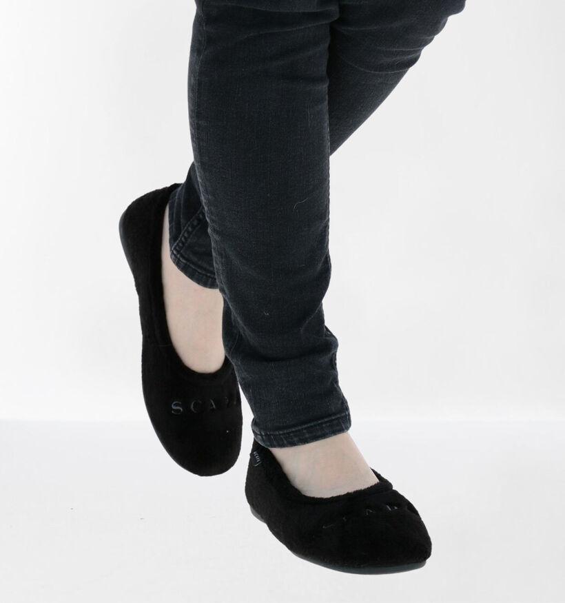 Scapa Zwarte Pantoffels in stof (281273)