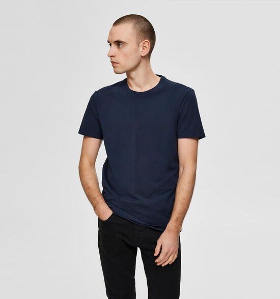 Selected Homme 3 Pack Blauwe T-shirts