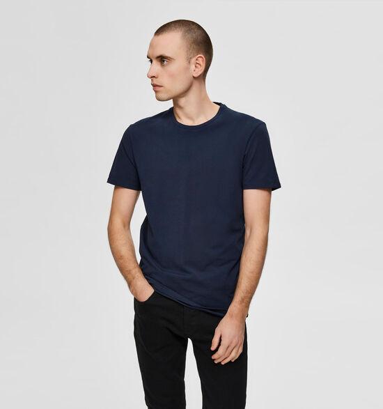 Selected Homme 3 Pack T-shirts en Bleu