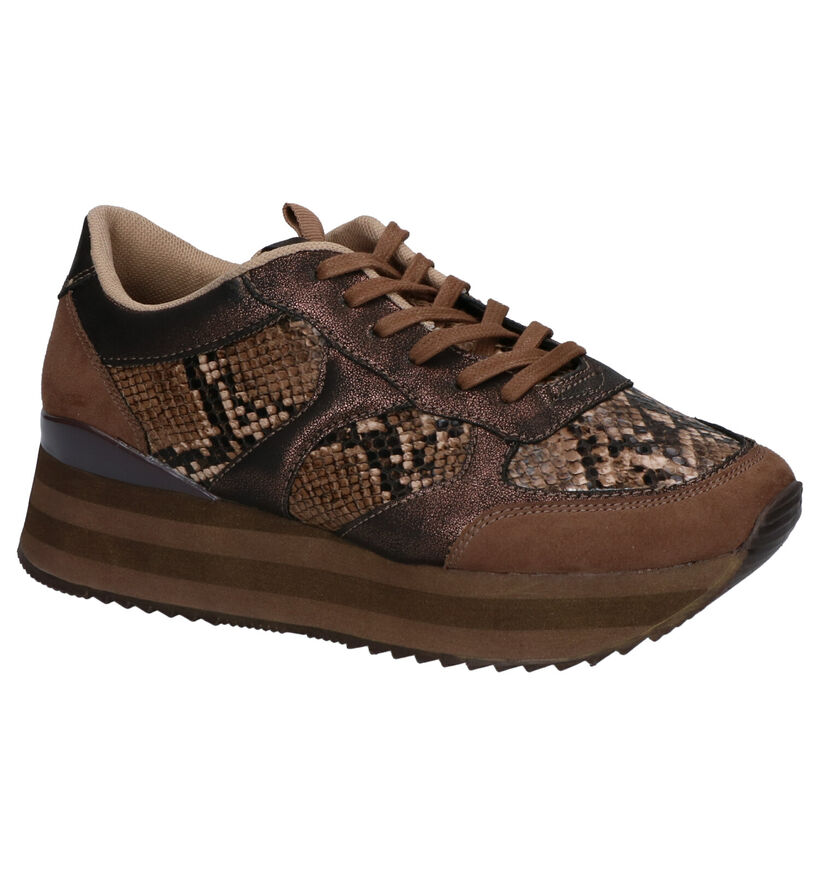 Youh! Bruine Sneakers in kunstleer (259341)