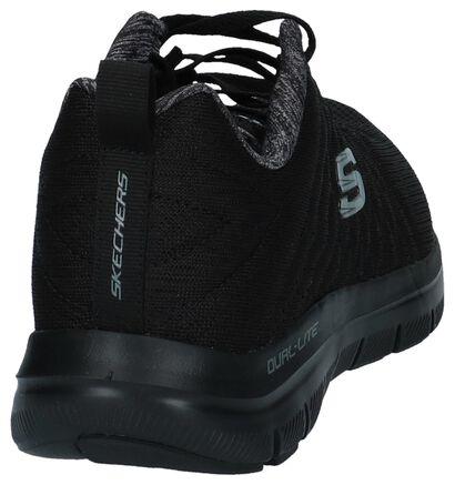 Donkerblauwe Sneakers Skechers in stof (247404)