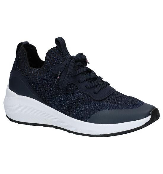 Tamaris Fashletics Blauwe Slip-on Sneakers