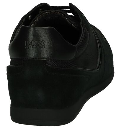 Zwarte Lage Schoen Glaze Low Hugo Boss, Zwart, pdp