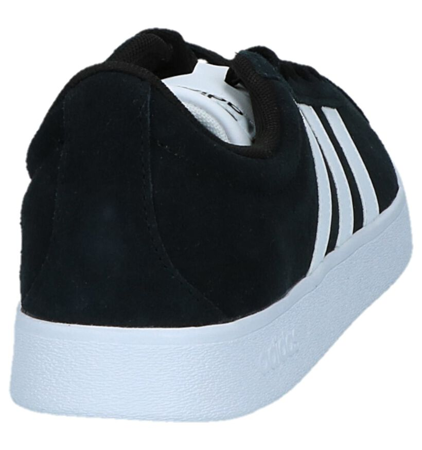 adidas VL Court 2.0 Baskets en Noir en daim (252487)
