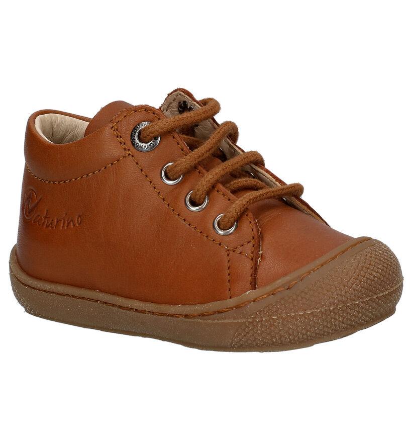 Naturino Cocoon Chaussures à Lacets en Jaune en cuir (275684)