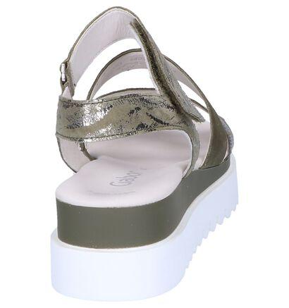 Gabor Best Fitting Sandales à talons en Vert en nubuck (245432)