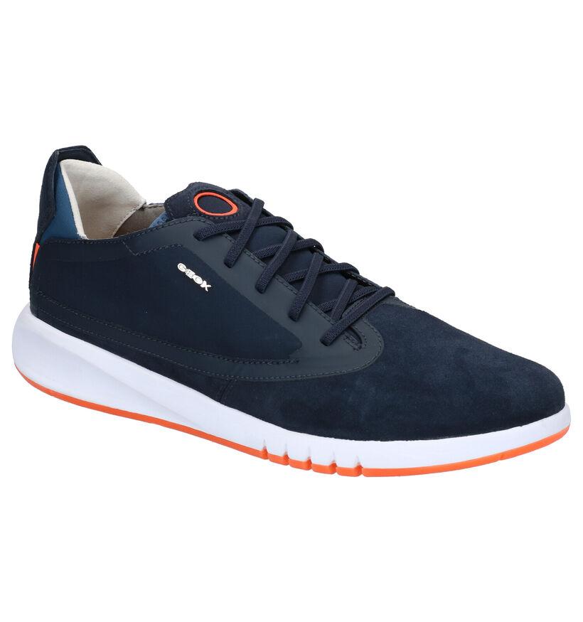 Geox Aerantis Blauwe Sneakers in nubuck (270027)