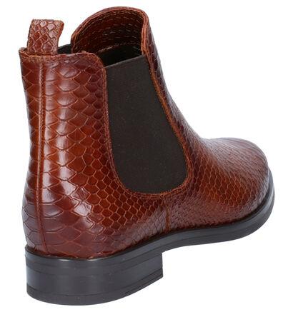 Hampton Bays Mia Cognac Boots in leer (253806)