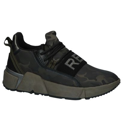 Replay Lobel Camouflage Slip-on Sneakers in stof (231604)