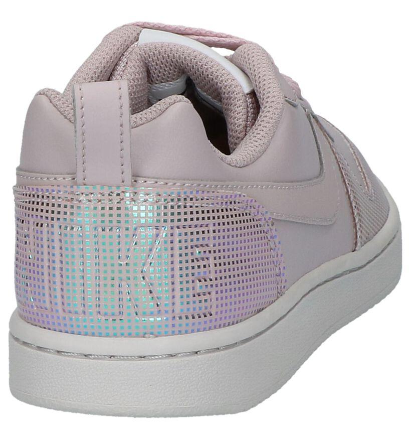 Nike Court Borough Baskets basses en Rose en simili cuir (209810)