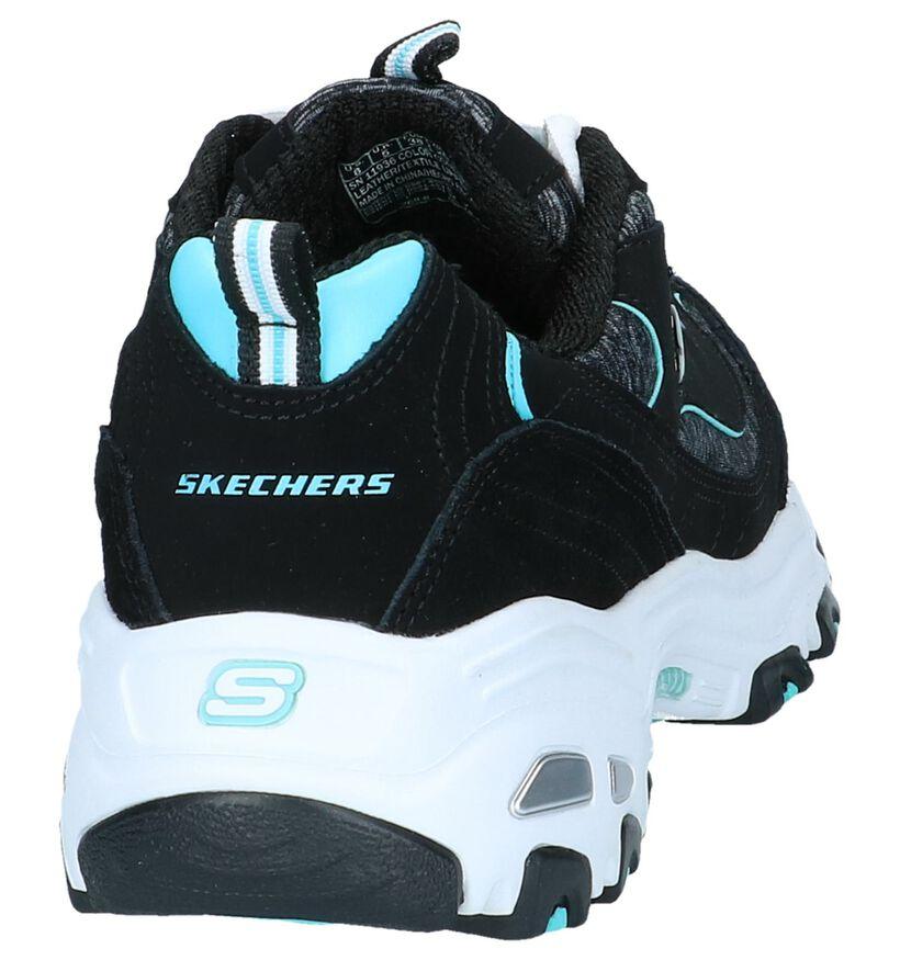 Zwarte Sneakers Skechers D'Lites in stof (252021)